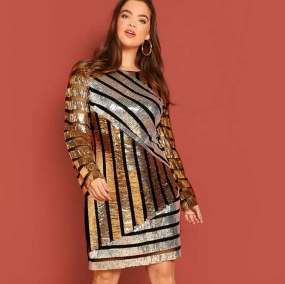 Plus size sequin dress NWT